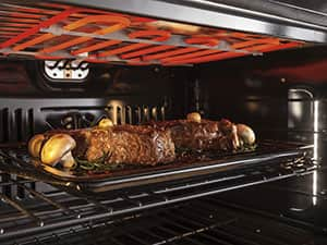 GE french door oven broiler with steak