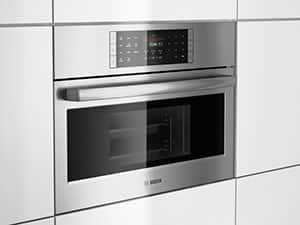 Bosch Benchmark convection ovens are cabinet depth