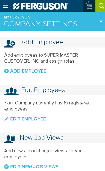 Edit your Company Settings on your mobile device.