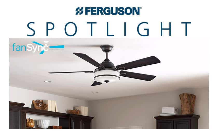 Living room fan controlled by Fanimation fanSync.