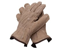 Leather work gloves for contractors