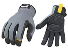 Synthetic work gloves for contractors