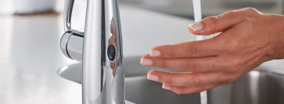 Bathroom faucets with touchless technology