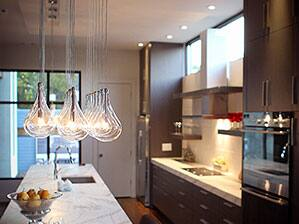 ET2 Larmes Pendant Lighting in Kitchen Island