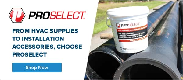 Shop Proselect for Plumbing, HVAC, Mechanical, Workshop and Waterworks