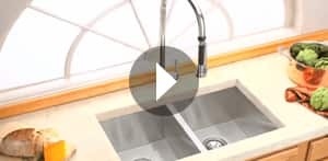 View Elkay stainless steel sinks and faucets