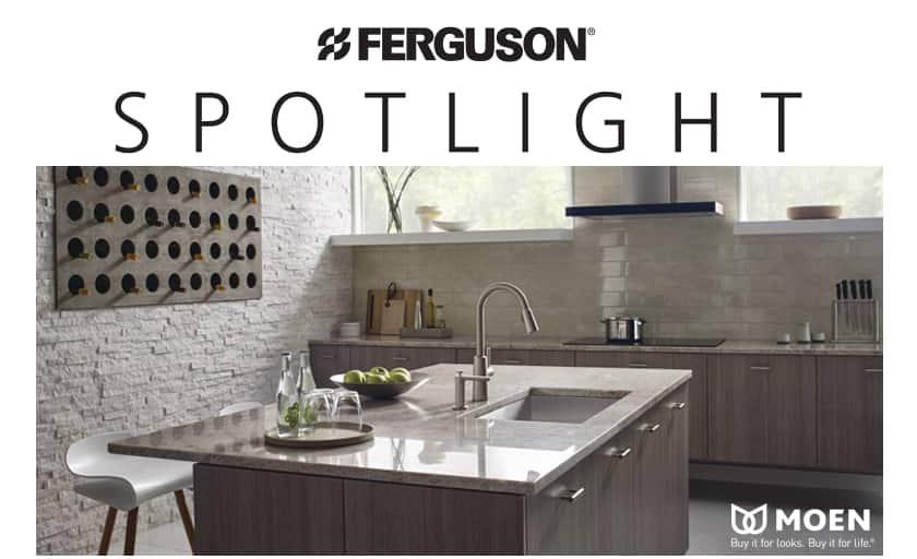 moen riley™ pull down kitchen faucet spotlight - ferguson