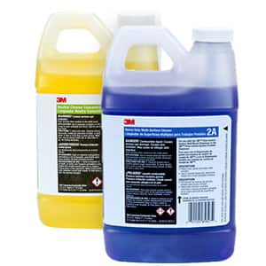 Shop cleaning chemicals in janitorial