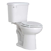 ProFlo 0.8 GPF Two Piece Round Front Toilet
