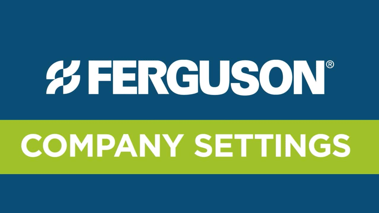 Ferguson.com Website Tutorial Video Screenshot - Company Setting