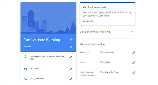 how to claim your business in google step 4: View and edit your business's Google location listing.