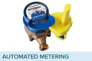 Automatic meter reading water meter sold by Ferguson Waterworks.