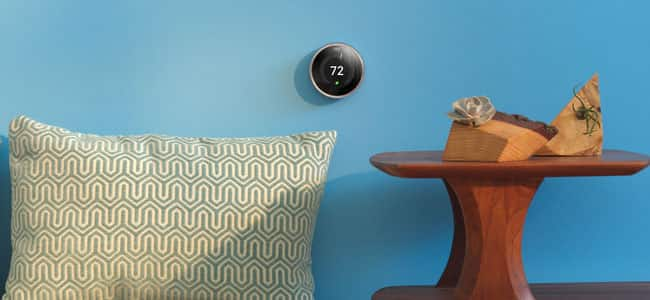 Modern living with Nest thermostat