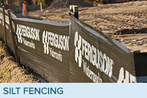 Silt fencing sold by Ferguson Waterworks