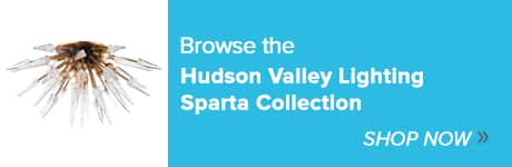 Hudson Valley Lighting Sparta Collection for Ferguson Showroom Spotlight program