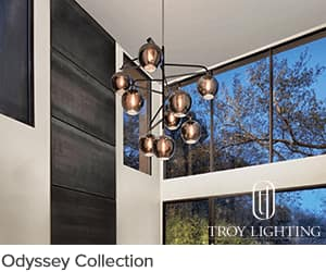 Troy Lighting Odyssey Collection for Ferguson Showroom Spotlight program